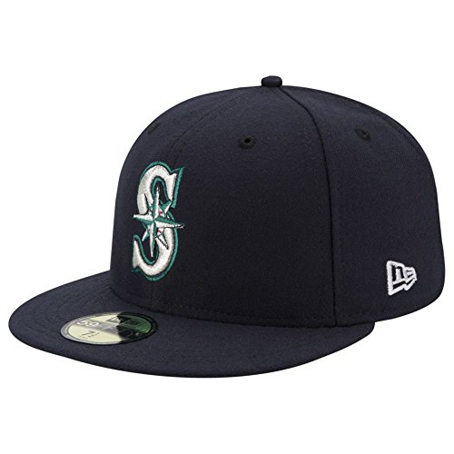 New Era Seattle Mariners AC Performance Home 59fifty Fitted Cap MLB Authentic