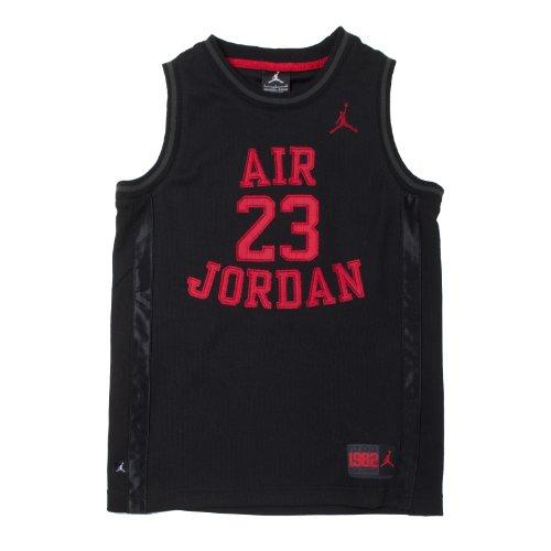 Nike Jordan Boy's Youth Classic Mesh Jersey Shirt (Black/Red, S(8-10YRS) - Jordan Mesh-kleid