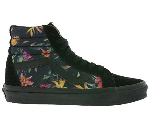 Vans U Sk8-Hi Reissue Americana, Sneakers Hautes Mixte adulte Schwarz - black bloom