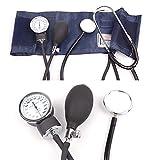 Amimilili Presión Arterial Monitor de Cardiología del medidor tonómetro Brazalete Estetoscopio Kit de Viaje Esfigmomanómetro
