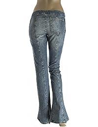 DONDUP jeans donna modello a zampa di elefante -Nuovo senza etichetta - Made  in Italy 0dbd9a509d