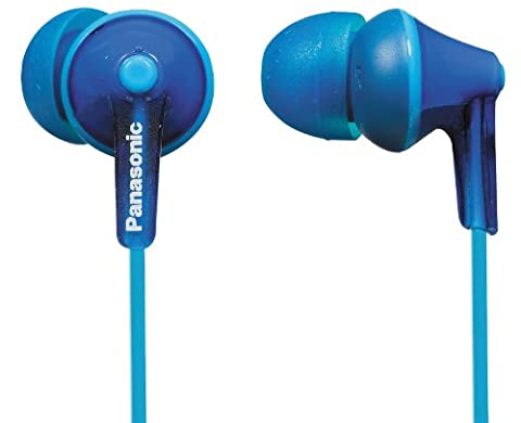 Panasonic RP-HJE125E-A Ergo Fit In-Ear Headphone - Blue