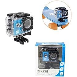 Funbee Caméra Sport Full HD 1080P - Boitier Etanche 30M - Accessoires Inclus - Ecran LCD - Objectif Grand Angle 140° - Dès 5 Ans - D'arpèje - OFUN260C