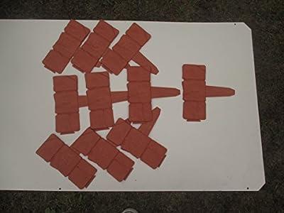 10 Element Länge 2,5 m Hohe 23 cm Gartenzaun Beeteinfassung Zierzaun Beetumrandung Rasenkante Mähkante Palisade Beet Rasenkante