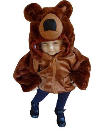 Jacke als Braunbär-Kostüm, F88/00 Gr. 86-92, für Klein-Kinder und Babies, Bären-Kostüme Fasching Karneval Fasnacht, Karnevalskostüme, Kinder-Faschingskostüme, Geburtstags-Geschenk - Kleines Baby Teddy Bär Kostüm