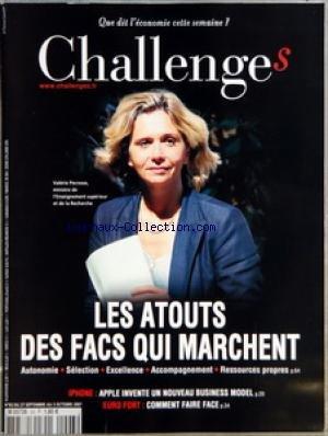 CHALLENGES [No 93] du 27/09/2007 - AVANT-PREMIERES - CONFIDENTIEL SACYR S'EN PREND A L'AMF - POLITIQUE JEAN-LOUIS BORLOO INTRIGUE L'ELYSEE - MEDIAS LIBERATION FAIT PEAU NEUVE - BOURSE NOS CONSEILS DE LA SEMAINE - GRAPHIQUE VENTS CONTRAIRES SUR LE FRET MARITIME - L'EVENEMENT - L'IPHONE COUTE CHER AUX OPERATEURS EN ECHANGE DE L'EXCLUSIVITE DU NOUVEL APPAREIL D'APPLE ORANGE T-MOBILE ET O2 REVERSENT UNE PART DES ABONNEMENTS - TETES D'AFFICHE - RENCONTRE BJORN BORG PATRON DE BJORN BORG AB LE 22 SEPT