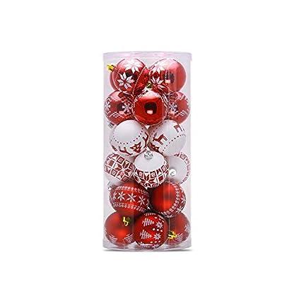 joizo-1bucket-24X-Kunststoff-Federkugeln-Mehrzweck-Durable-Lasur-Kugel-6cm-Abgehngte-Weihnachtskugeln-fr-Ornamente-chic-rot-und-wei