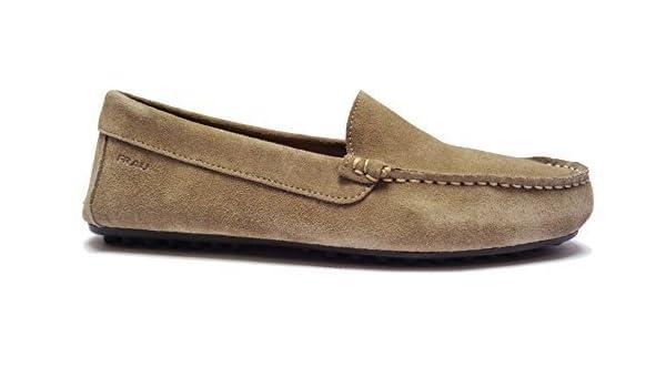 FRAU 31A0 Chaussures Casual Hommes Mocassins en daim coul. Liège à revers Caoutchoucs, NUM. 42