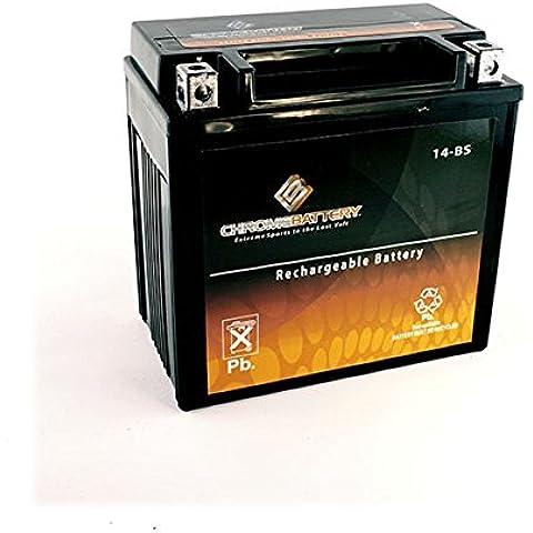 YTX14-BS motociclo batteria per HONDA VT1100C2 Shadow Sabre 1100CC 00-'07