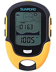 SUNROAD Outdoor Multifunctional Boussole Waterproof LCD Digital Compass Altimètre Baromètre LCD étanche à l'eau