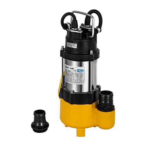 Husuper 220V 0.33HP Tauchpumpe für Brunnen 250W Tiefenpumpe 50Hz Tauchpumpe mit 40-m-Kabel mit kontrollierter Box (250W 0.33HP)