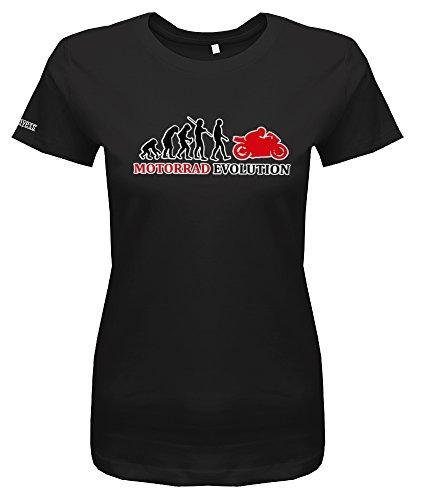 MOTORRAD EVOLUTION - DELUXE STYLE - Schwarz - WOMEN T-SHIRT by Jayess Gr. M Jugend-motorrad-jersey