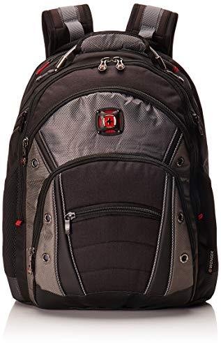 """Wenger 600635 Synergy 16\"""" Laptop-Rucksack, gepolsterte Laptopfach mit iPad/Tablet / eReader Tasche in schwarz / grau {26 Liter}"""