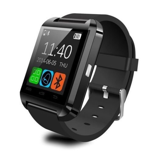 U8 Bluetooth Smart Wrist Watch Phone Mate for Android Samsung HTC LG (Black)