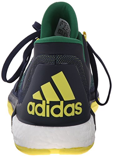 Adidas Performance 2015 Crazylight Boost Primeknit chaussure de basket, Noir / Pourpre royale Plein Bleu
