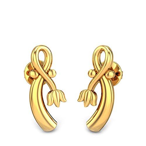 7f8f008a4 Candere By Kalyan Jewellers 22k (916) Yellow Gold Emilia Stud Earrings. On  Sale