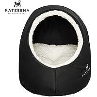 KATZEENA - Kuschelige Katzenhöhle   Katzenbett   waschbare Kuschelhöhle für Haustiere   Kuschelhäuschen