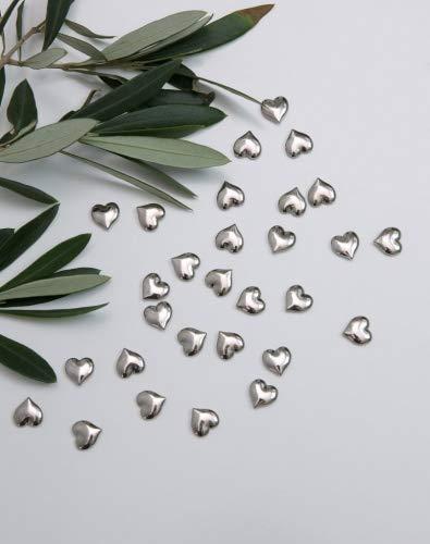 Silber Metall Herz Tisch Konfetti
