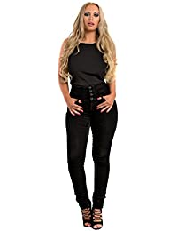 Women's Ladies Bright Bold Scallop Detail Casual Glam Top