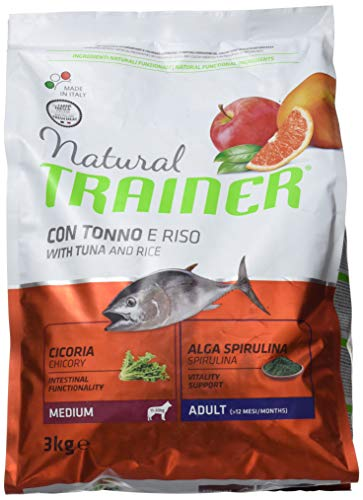 Trainer Natural Medium Tonno Riso kg. 3 Cibo Secco per Cani, Multicolore, Unica