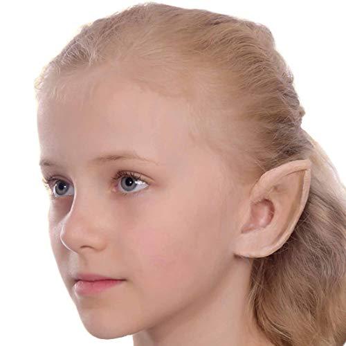 Amakando Witzige Spitzohren für Kinder / ca. 8,5 cm & mit Mastix / Feen-Ohren aus Latex / Wie geschaffen zu Kinder-Karneval & ()