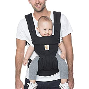 Ergobaby Baby Carrier up to 3 Years (12-45 lbs) 360 Pure Black, 4 Ergonomic Carry Positions, Front Facing Baby Carrier, Child Carrier Backpack   9
