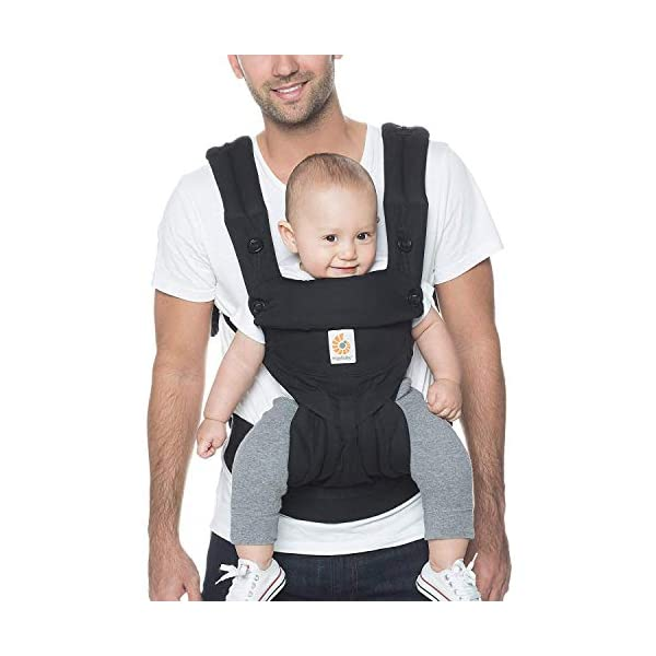 Ergobaby Baby Carrier up to 3 Years (12-45 lbs) 360 Pure Black, 4 Ergonomic Carry Positions, Front Facing Baby Carrier, Child Carrier Backpack Ergobaby Ergonomic baby carrier with 4 ergonomic carry positions: front-inward, back, hip, and front-outward. The carrier is suitable for babies and toddlers weighing 5.5-20 kg (12-45 lbs), and can be used as a back carrier. Also with insert for newborn babies weighing 3.2-5.5 kg (7-12 lbs), sold separately. NEW - The waistbelt with lumbar support can be worn a little higher or lower to support the lower back and provide optimal comfort, and has adjustable padded shoulder straps. The carrier is suitable for men and women. Maximum baby comfort - The structured bucket seat supports the correct frog-leg position for the baby. The carrier also has a padded, foldable head and neck support. Ergobaby carriers are a new take on the usual baby sling. 1
