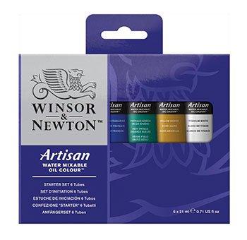 winsor-newton-artisan-huile-mixable-a-leau-starter-ensemble-de-6x21ml-tubes