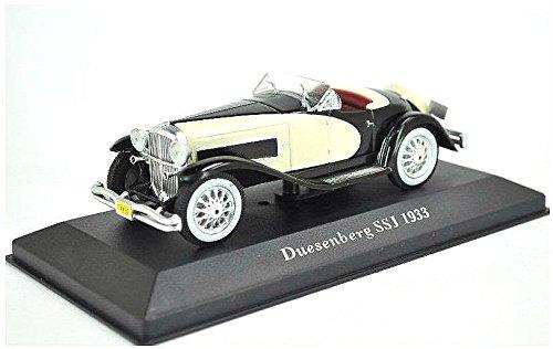 duesenberg-ssj-1933-in-black-and-cream-143-scale-diecast-model-car
