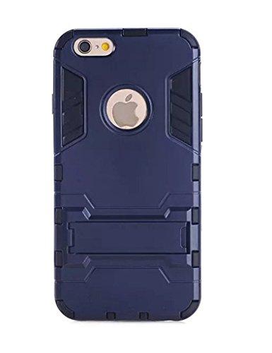 Custodia iPhone 5 5S SE Nnopbeclik® Hybrid 2in1 Ultra leggera TPU + PC Custodia Cover Case Silicone Modello, retro Custodia resistente alle cadute, antishock, funzione in piedi Stand, Custodia Rigida  blu reale