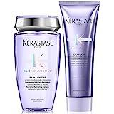 Kérastase, Set shampoo Blond Absolu Bain Lumiere da 250 ml e balsamo Blond Absolu Cicaflash da 250 ml