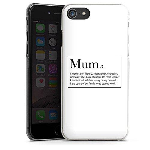 Apple iPhone X Silikon Hülle Case Schutzhülle Mum Mama Muttertag Hard Case transparent