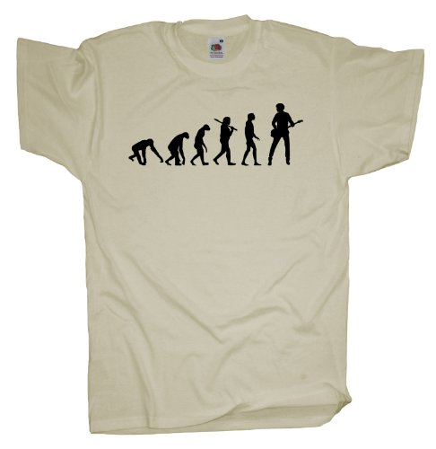 Ma2ca - Evolution - Basser Bassist Bass T-Shirt Natural