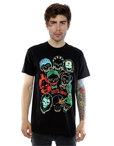 Suicide Squad Homme Band Of Skulls T-Shirt Large Noir