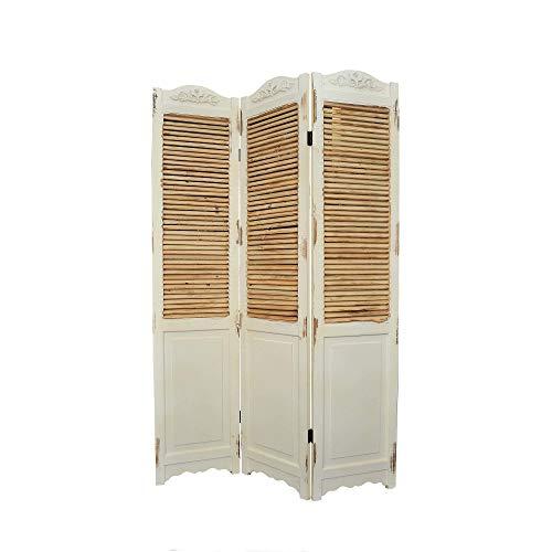 HTI-Living Paravent Lilja Sichtschutz Spanische Wand Raumteiler Regal Vintage Trennwand