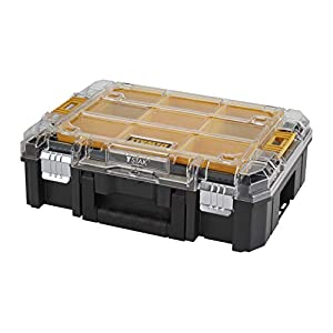 41xx4QXp26L. SS300  - Dewalt DWST1-71194 DWST1-71194-Organizador con Tapa Transparente TSTAK V, Negro/Naranja