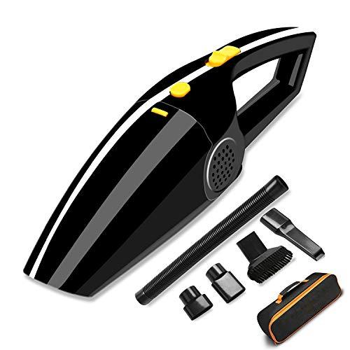 Aspirapolvere auto - sonoka 4 in 1 kit aspirapolvere multifunzione portatile / aspirazione forte dc12v asciutto bagnato e asciutto tenuto in mano elettrico auto presa accendisigari / (nero)