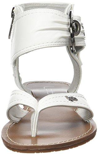 Les P'tites Bombes 3-thalie12, Sandales Bout Ouvert Femme Blanc (Blanc)