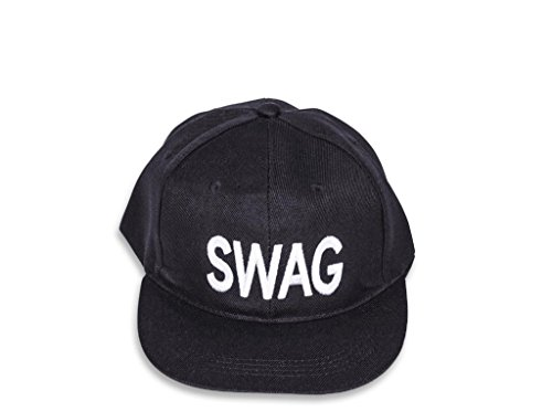 Black Swag Hip Hop Snapback Cap  available at amazon for Rs.225