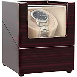 CHIYODA Automatic Watch Winder with Quiet Motor- 8 Speed Modes - 100% Handmade