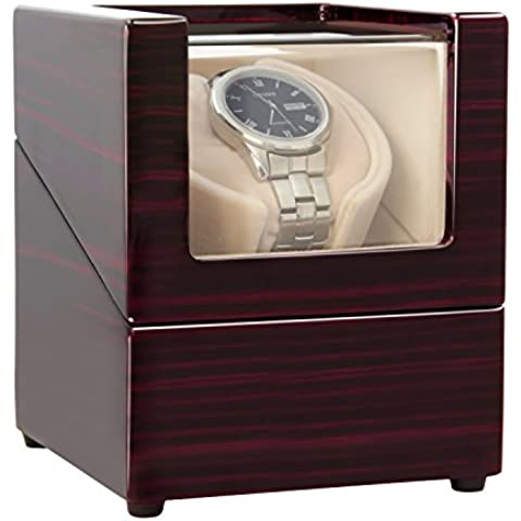 [Nueva versión] CHIYODA Caja Estuche para Reloj Automático Watch Winder para Reloj con Mabuchi Motor Lujo