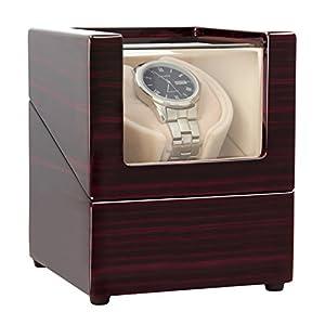 CHIYODA Uhrenbeweger Automatische Wristwatch Winding Box Uhren Aufbewahrungskoffer mit leisem Mabuchi Motor und 12 Rotationsmodi