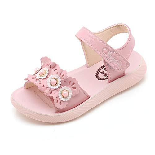 BURFLY Baby Mädchen Strand Blume Sandalen rutschfeste bequeme süße romantische Schuhe Freizeitschuhe Sandalen