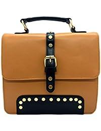 Aarka Women's Leather Sling Bag Brown Tan SB03