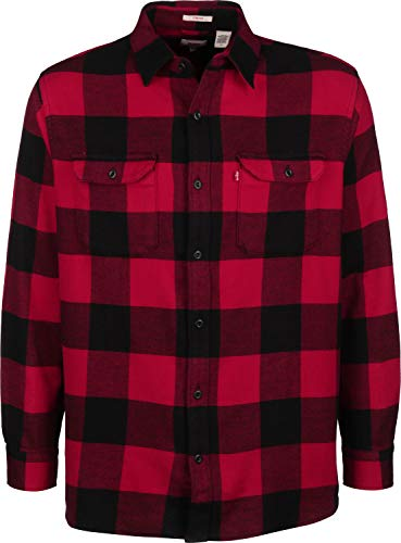 Levi's Hombre Jackson Worker Shirt, Rojo, XXL