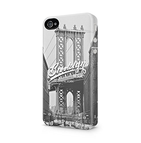 Maceste Brooklyn New York USA Kompatibel mit iPhone 4 / iPhone 4S SnapOn Hard Plastic Phone Protective Fall Handyhülle Case Cover