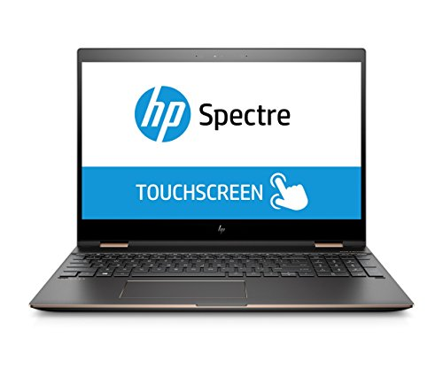 HP Spectre x360 15-ch004ng (15,6 Zoll 4K IPS) Convertible Notebook (Intel Core i7-8750G, 16GB RAM, 512GB SSD, AMD Radeon RX Vega M 870 4GB, Touchdisplay, Windows 10 Home 64) Grau/Kupfer