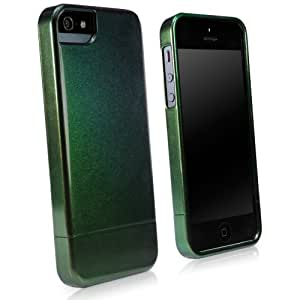 BoxWave Aurora Slider Apple iPhone 5 Case - Durable Shell Case with Dark Color-Shifting Hues with a Subtle Sheen for Apple iPhone 5 - Apple iPhone 5 Covers and Apple iPhone 5 Cases (Forest Green)