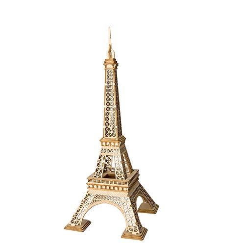 Chuanyilong 3D Holzpuzzle, Holz Eiffelturm, Modellbau Spielzeug, Handgemachte DIY Architektonische Dekoration, Handwerk Geschenk Dekoration