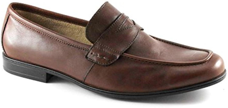 Lion León 20685 Zapatos Marrones Hombre Tabaco Mocasines de Cuero Antiestático